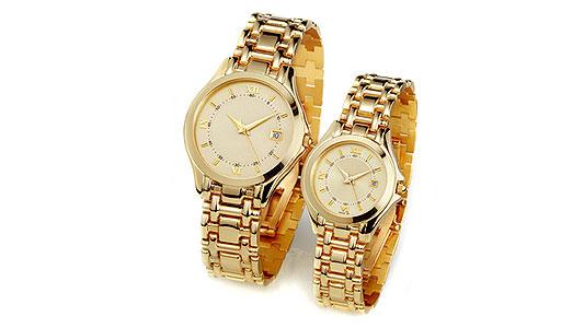 Goldene Armbanduhren